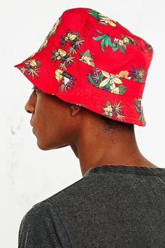 Obey Sativa Bucket Hat in Red