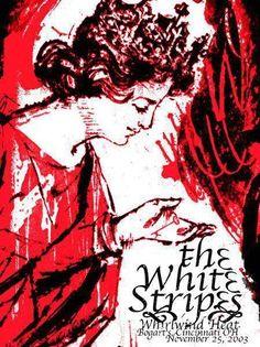 White Stripes #gigposter by Rob Jones.