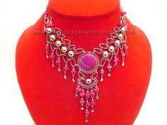 Purple Agate Stone Alpaca Silver Dangle Necklacehttp://www.wholesaleperuvianjewelry.com