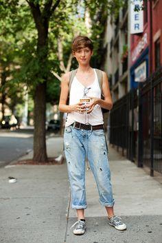 Tomboy style - loose sleeveless shirt. lovely