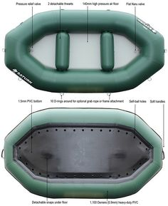 9.6' RD290 Professional Grade Whitewater River Rafts for 2-3 peoples.