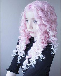 Beautiful pale pink hair