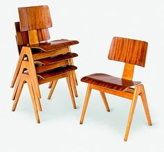 Robin Day. Hillestak chairs, for S Hille & Co, UK 1950.