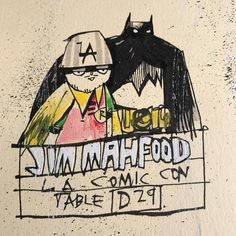 LA! @stanleecomiccon starts tomorrow! I'll be at Artist Alley table D29. Roll through for a quick high five and magic burrito snack... #la #lacomiccon #comikaze #artistalley #comiccon #burrito #destruction #visualfunk #foodone #jimmahfood