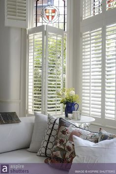 Interior Shutters in San Diego by Shuttermart - Over 50 Years of Service My Home Design, Home Interior Design, House Design, Wooden Shutters, Window Shutters, Budget Blinds, Interior Shutters, Curtains With Blinds, Wood Blinds