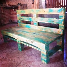 Pallet Bench - Beautiful Pallet Creations for Your Home - 101 Pallet Ideas