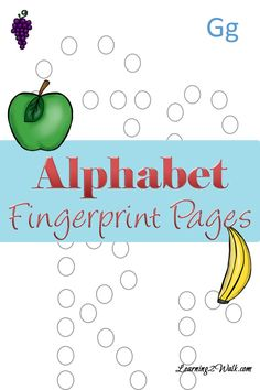 If you are looking for a few preschool ~ kindergarten letter activities to teach the alphabet, why not try these letter fingerprint pages? Preschool Education, Preschool Letters, Preschool Learning Activities, Preschool Curriculum, Preschool Lessons, Parent Letters, Homeschooling, Physical Education, Toddler Activities