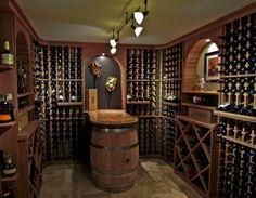 Image result for modern natural redwood wine cellar