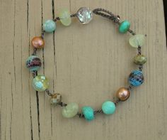 I have this bracelet and it's GORGEOUS!  Bohemian beach bracelet  Beach Cottage  Boho by 3DivasStudio, $30.00