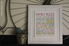 Family Rules Free Printable - plus enter to win an HP Photosmart Printer!