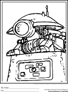 Star Wars Colouring Pages Pit Droid