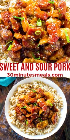 Sweet and Sour Pork is a restaurant-quality meal that can be easily made at home in one pan. #pork #sweetandsour #dinner #30minutesmeal