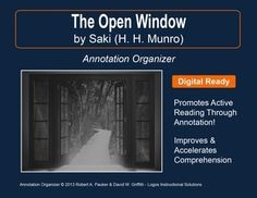 the open window by saki essay Free essay: max beerbohm and saki both use the story-within-a-story literary device similarly in their works av laider and the open window.