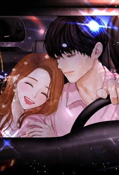 Hohoho I wish this is me and my kareshi Anime Love Story, Anime Love Couple, Couple Cartoon, Cute Anime Couples, Manga Couple, Couple Art, Manga Anime, Manga Art, Anime Guys