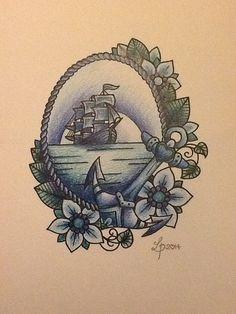 Vintage pirate ship design by libby firefly by Libbyfireflyart, £7.00