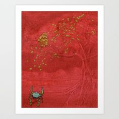 The Crab and the Monkey Art Print by Camilo Nascimento - $15.00