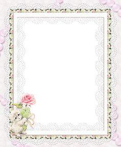 Transparent Frames | Kitty with Rose Transparent Frame