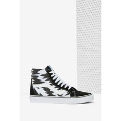 Vans x Eley Kishimoto Sk8-Hi Sneaker ($80) ❤ liked on Polyvore featuring shoes, sneakers, suede shoes, hi top sneakers, high tops, waist trainer and blue suede shoes