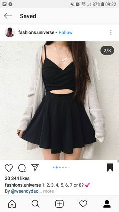 Black Skater Skirts, Her Style, Outfits, Clothes, Dresses, Fashion, Vestidos, Moda, Suits