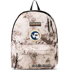 Napapijri Rucksack ($69) ❤ liked on Polyvore featuring bags, backpacks, beige, travel rucksack, travel daypack, backpack travel bag, beige backpack and travel bag