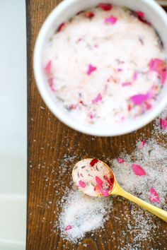 Want an easy and affordable mother's day gift, check out these DIY bath salts. The smell is amazing and visually it's a great addition to your bath. Plexiglass Table, Bath Salts Recipe, Sticky Labels, No Salt Recipes, Diy Mothers Day Gifts, Mother's Day Diy, Cool Fonts, How To Do Nails, Diy Wedding