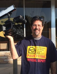PCH on Twitter says................Say hello to our camera man for the day! We're SO excited to be awarding $10,000 today AND $1,000,000 tomorrow!!!