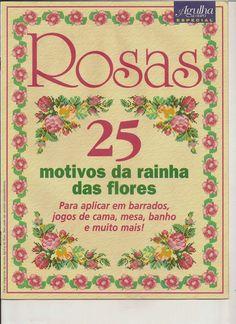 Graficos de rosas en punto de cruz