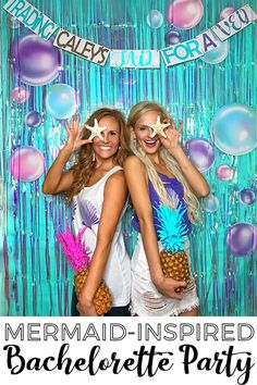 There are plenty of fun bachelorette party ideas that you can implement into your bash. Let the bride get wild one last time before her big day. Bachlorette Party, Nautical Bachelorette Party, Bachelorette Party Decorations, Bachelorette Weekend, Bachelorette Ideas, Nautical Theme, Mermaid Bridal Showers, Mermaid Wedding, Shell Bra