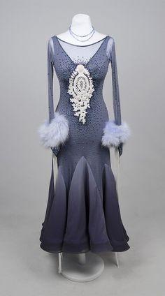 Winter-like ballroom dance dress Ballroom Dance Dresses 0dde9bc225ce