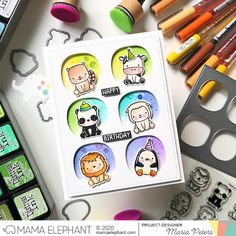mama elephant | design blog: Stamp Highlight: Stackable Friends