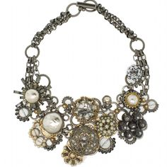 Collage Statement Necklace. One of a kind, probably can't buy it. Sad panda.