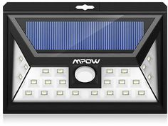 Mpow Wireless Waterproof Security Motion Sensor Solar Powered LED Light