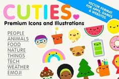Cuties - Premium Icons/Illustrations  @creativework247