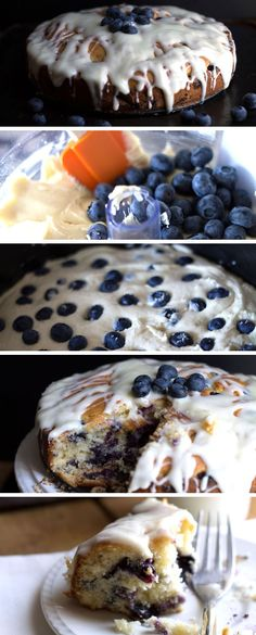 Pinner said : BEST BLUEBERRY CAKE {EVER} - Erren's Kitchen - this recipe is one of those desserts you'll crave once you try it! The cream cheese icing is addictive! Yummy Treats, Sweet Treats, Yummy Food, 13 Desserts, Dessert Recipes, Keks Dessert, Blueberry Cake, Blueberry Desserts, Coffee Cake