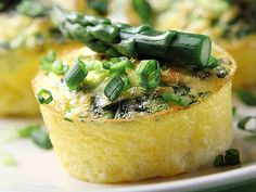 Small scrambled egg baked in a muffin tin