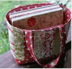 Friendship Bag pattern by Rachel from P.S. I Quilt #sewing                                                                                                                                                                                 More