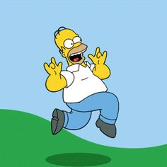 happy homer simpson the simpsons crazy jump running run yay simpsons joy homer cheer simpson fathers day skip happy fathers day skipping going crazy leaving work happy gif tv dads tv dad Homer Simpson, Cartoon Gifs, Animated Cartoons, Animated Gif, The Simpsons, Funny Videos, Funny Gifs, Los Simsons, Leaving Work
