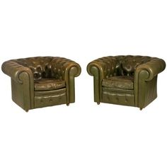 I pinned this Chesterfield Arm Chair - Set of 2 from the Vintage Bon Vivant event at Joss and Main!