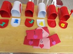 Valentine's Day mailboxes create great opportunities not only to practice writing, but also for fun math games that can continue long after Feb. 14