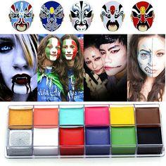 Amazon.com: CCBeauty Professional Face Body Paint Oil 12Colors Painting Art Party Fancy Make Up Set, #1