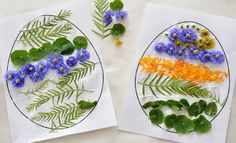 Simple craft for Easter Sunday - everyone in the family can make one!   Easter Egg Nature Collage {from @Katepickle - Picklebums.com - Picklebums.com - Picklebums.com - Picklebums.com for @Kidspot}