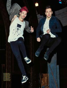 Josh is like, can you at least pretend to have fun  And Tyler is like, nO