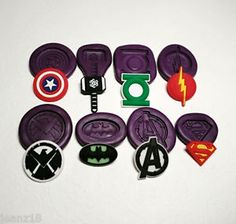 Silicone Molds Small Marvel Avengers Superheroes Logo SET Fondant Clay PMC | eBay