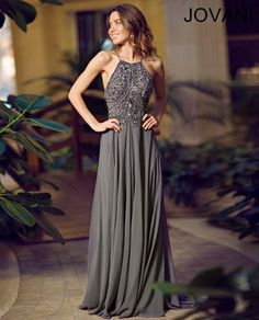 Jovani Prom Charcoal 92605. I'm in love with this dress