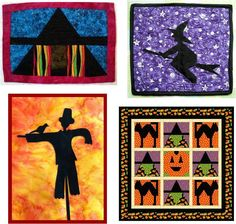 Quilt Inspiration: Free Pattern Day: Halloween. New patterns were added on July 24, 2012