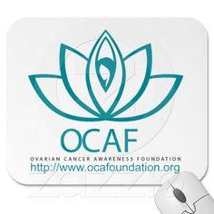 Our new lotus logo- Ovarian Cancer Awareness Foundation Mousepads