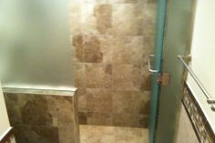 Light Walnut Tile Bathroom Renovation by Hoganwerks Interior Renovations of Snowmass, Colorado