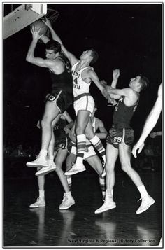 Jerry West in action against William and Mary....dated 1960
