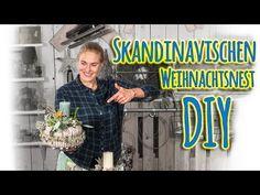 DIY Adventsgesteck - Skandinavischen Weihnachtsnest - YouTube