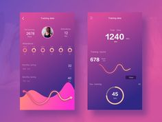 Fitness interface by 雾浓浓Oo #Design Popular #Dribbble #shots